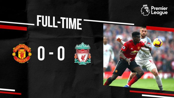 Manchester United vs Liverpool 0-0 - Highlights & Goals