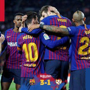 Barcelona vs Rayo Vallecano 3-1 - Highlights & Goals