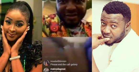 Etinosa Goes Completely Naked On MC Galaxy's Instagram Live Video (18+)