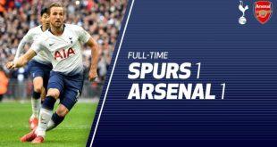 Tottenham vs Arsenal 1-1 - Highlights & Goals