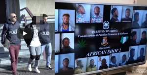 10 Nigerians Busted In Italy By Police For Drug Business (Video)