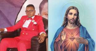 Bishop Obinim Destroys Jesus Image In His Church (Video)