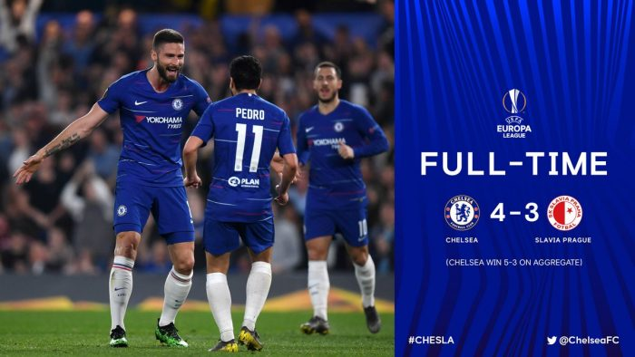 Chelsea vs Slavia Praha 4-3 (Agg 5-3) - Highlights (Download Video)