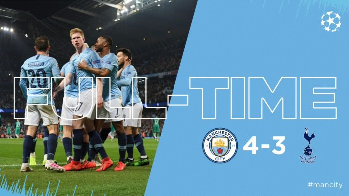 Manchester City vs Tottenham 4-3 (Agg 4-4) - Highlights (Download Video)