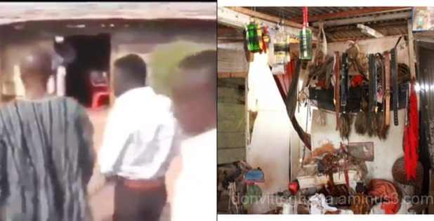Popular Herbalist Storms Church To Collect His Juju From Pastor (Video)