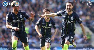 Brighton vs Manchester City 1-4 Highlights & Goals