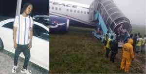Naira Marley Narrowly Escapes Plane Mishap (Air Peace)