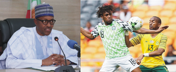 President Buhari Celebrates Super Eagles Victory Over South Africa