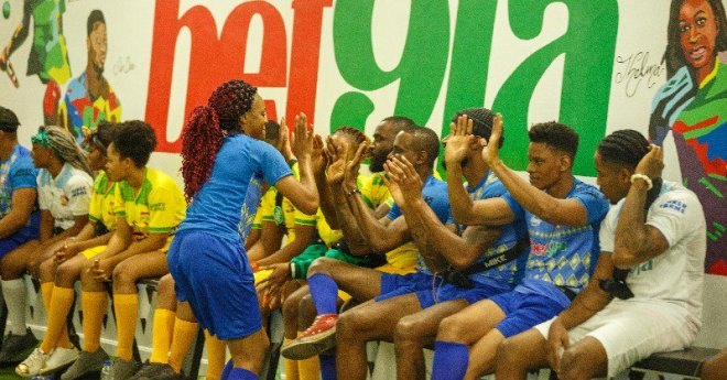 #Bbnaija : Super Eagles Players Surprised Housemates (Photos)