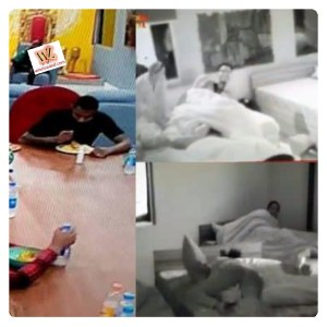 #BBNaija : Housemates Engaged In Pillow Fight At Midnight (Video)