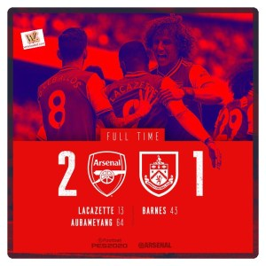 Arsenal vs Burnley 2-1 Highlights