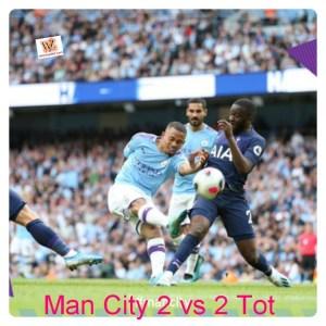 Manchester City vs Tottenham 2-2 Highlights