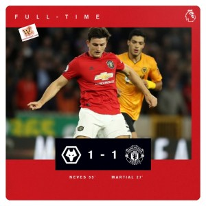 Wolves vs Manchester United 1-1 Highlights