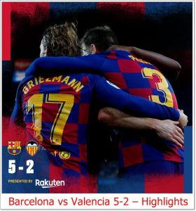 Barcelona vs Valencia 5-2 - Highlights
