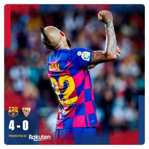 Barcelona vs Sevilla 4-0 Highlights