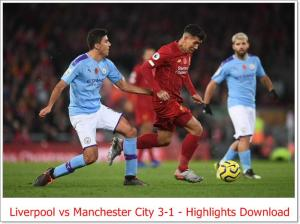 Liverpool vs Manchester City 3-1 - Highlights