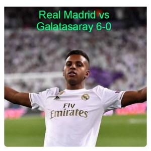 Real Madrid vs Galatasaray 6-0 Highlights