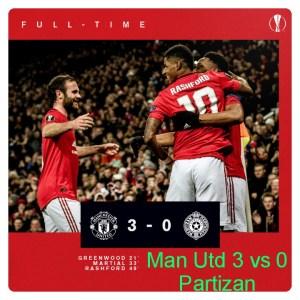 Manchester United vs Partizan 3-0 - Highlights