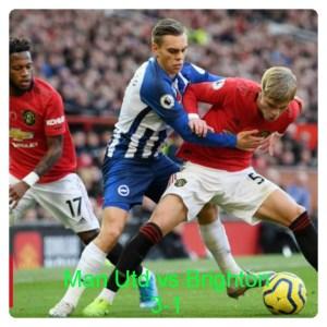 Manchester United vs Brighton 3-1 Highlights
