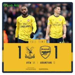 Crystal Palace vs Arsenal 1-1 Highlights