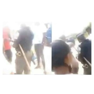 Police Officer With POS Spotted Demanding For ATM Card On A Busy Road (Video)