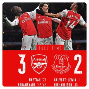 Arsenal vs Everton 3-2 Highlights Download