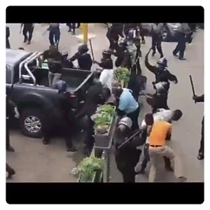 Police Beats Church Members Mercilessly For Defying Govt's Order (Video)