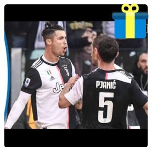 Critiano Ronaldo celebrating his goal in Bologna vs Juventus match