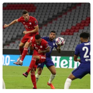 Robert Lewandoskey scored the goal in style against Chelsea