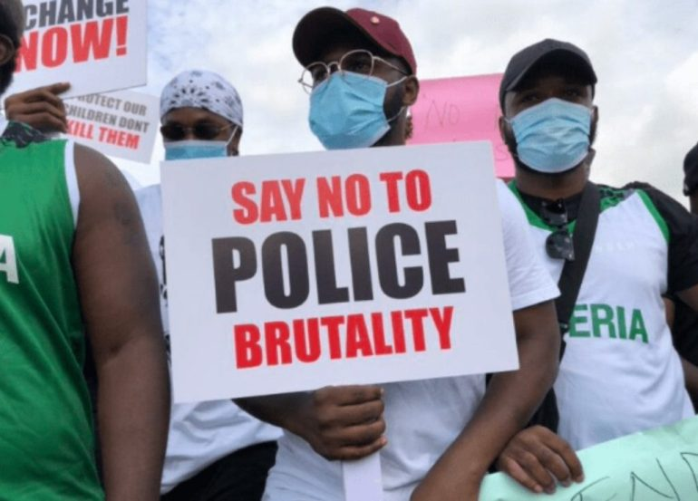 Falz And Runtown Lead Massive End SARS Protest (Video)