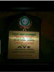 Offa Poly SUG Gives Merit Awards To Aye