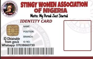 Stingy Women Association ID card template