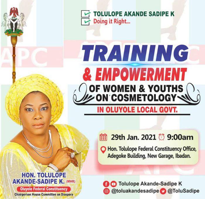 Rep Member, Tolu Akande-Sadipe Empowers 200 Constituents