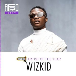 Wizkid as Headies 2021 Awards Artist of the year