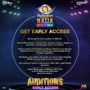 Bbnaija 2021 season 6 audition guides