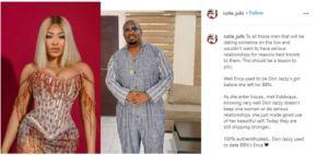 Erica Dated Don Jazzy Before BBNaija - Blogger Reveals