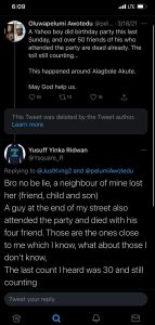 50 People Dies After Attending Yahoo Boy's Party