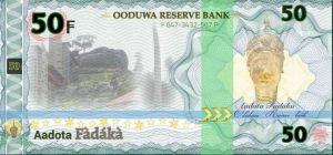 Oduduwa Currency 50 fadaka note