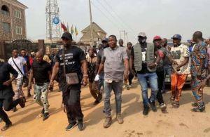 Nigerian Army Blocked Sunday Igboho From Entering Igangan Forest (Video)