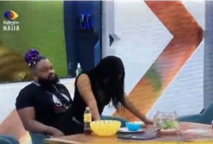 #Bbnaija: Moment Queen Gives Whitemoney A Seductive Lap Dance (Video)