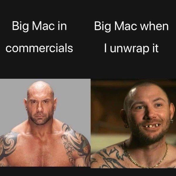Big Mac: Expectativas VS Realidad