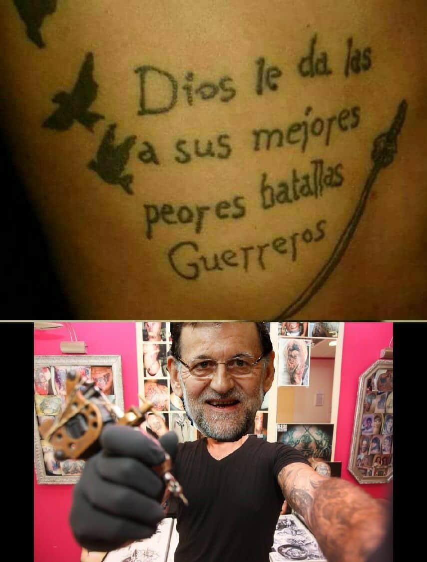 Cómo olvidar cuando Rajoy se hizo tatuador
