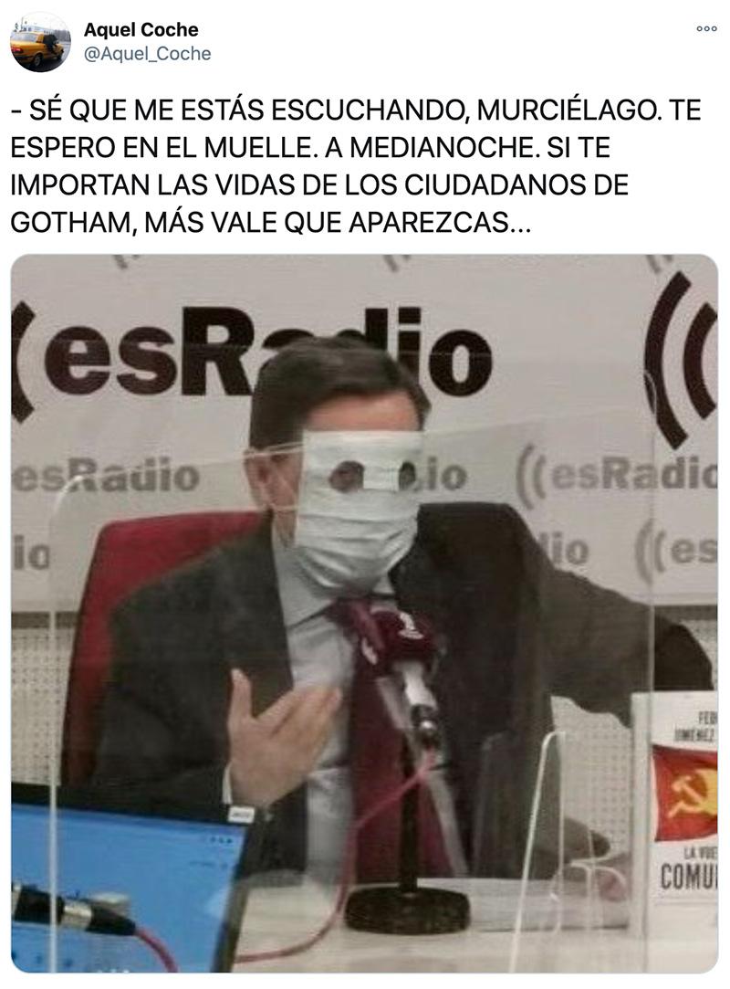 Jiménez Losantos ya es oficialmente un supervillano.