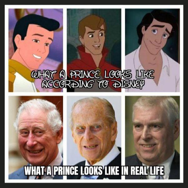 Príncipes: Disney VS Realidad.