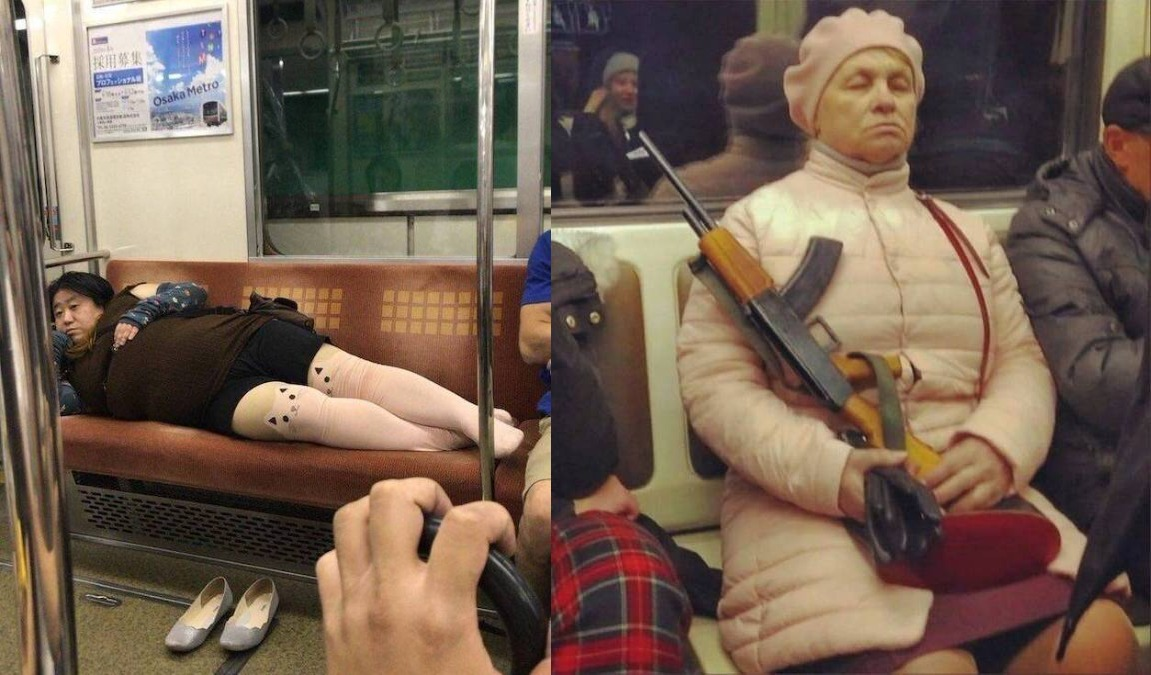 Metro de Osaka VS Metro de Volgogrado.