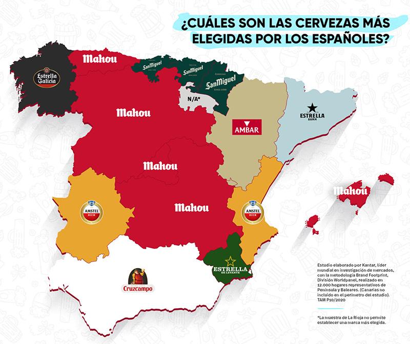 Esta es la cerveza preferida de los españoles en cada comunidad.