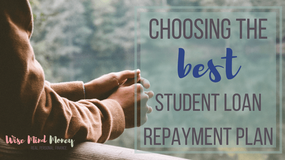 Choosing the best student loan repayment option