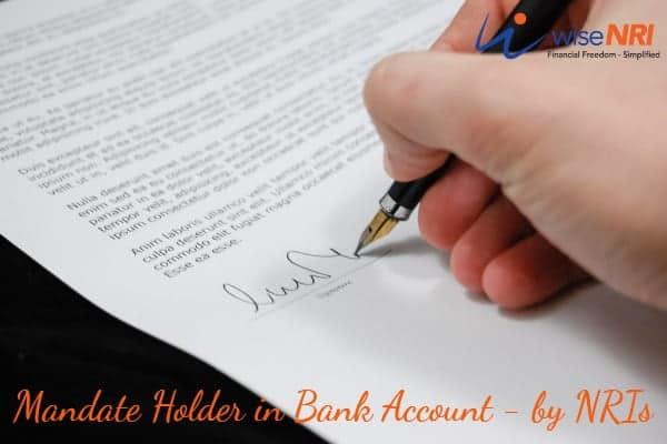 mandate holder in bank account