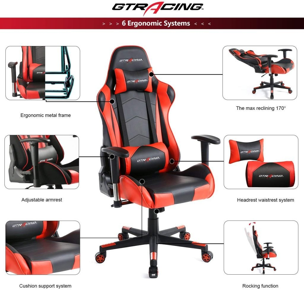 Gaming Chair For Big Guys 8 Best Gaming Chairs Under 200 Jun 2019 Reviews Buying Guide
