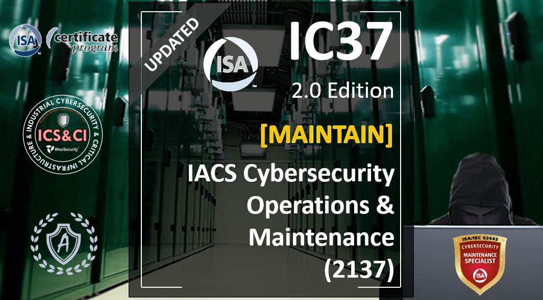 IC37 Course: Operation and Maintenance of Cybersecurity in New and Existing Industrial Systems, Spanish
